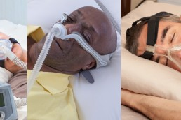 men using different CPAP masks