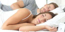 Couple getting good sleep