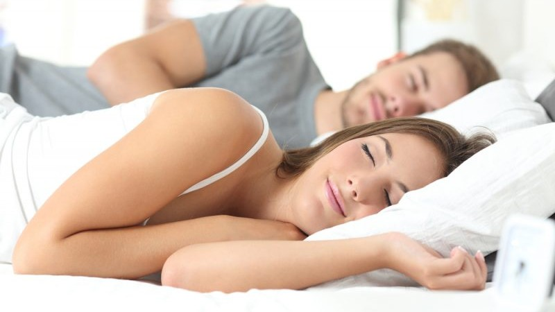 Couple getting good sleep