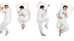 man in different sleeping position