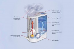 vicks vh750 warm mist humidifier snorelab. Black Bedroom Furniture Sets. Home Design Ideas