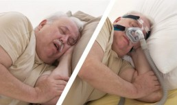 snoring versus sleep apnea concept